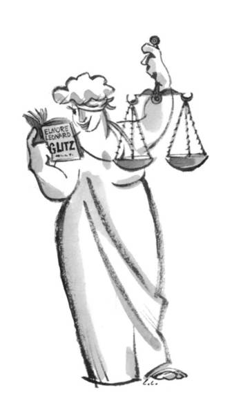 Justice Drawing - New Yorker October 18th, 1993 by Lee Lorenz