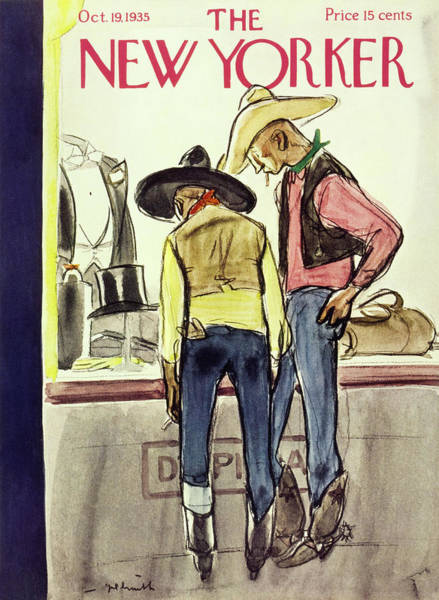 American Culture Painting - New Yorker October 19 1935 by William Crawford Galbraith