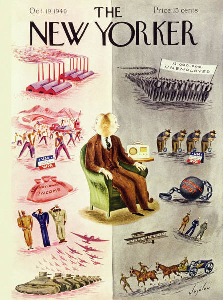 Problems Painting - New Yorker October 19 1940 by Constantin Alajalov