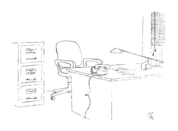 Commissioned Drawing - New Yorker October 19th, 1987 by Everett Opie