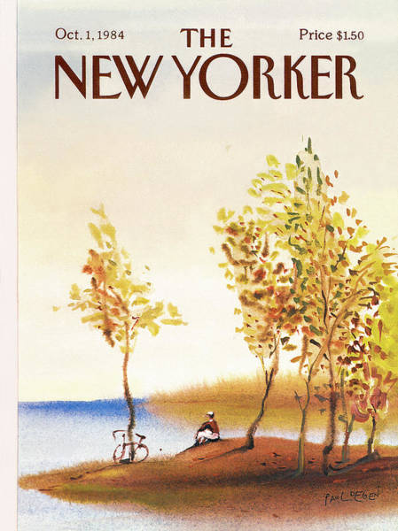 Bicycle Painting - New Yorker October 1st, 1984 by Paul Degen
