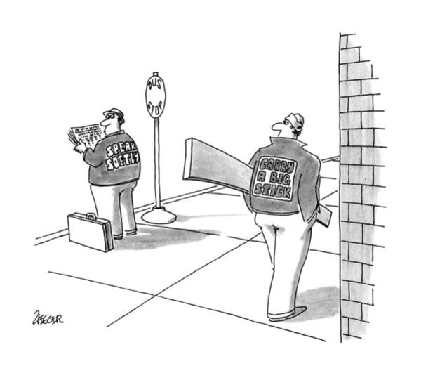 Carry Drawing - New Yorker October 1st, 1990 by Jack Ziegler