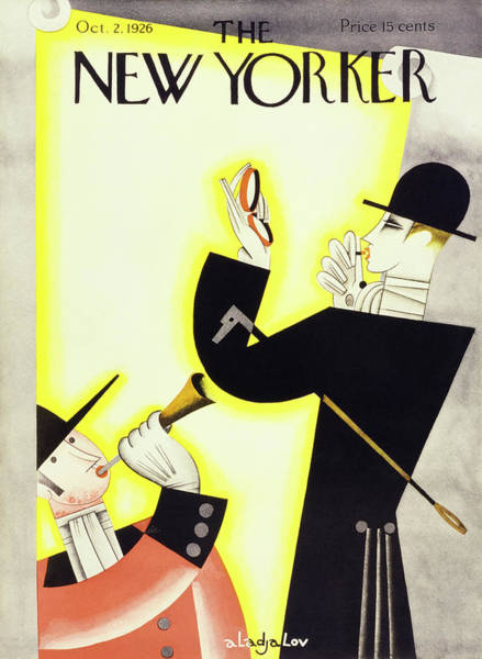 Riding Painting - New Yorker October 2 1926 by Constantin Alajalov