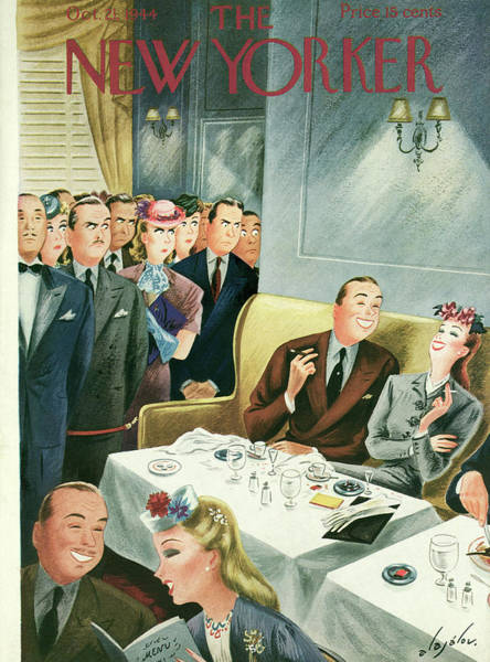 Restaurant Painting - New Yorker October 21st, 1944 by Constantin Alajalov