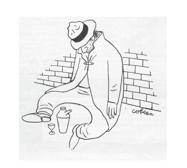 Alcoholism Drawing - New Yorker October 21st, 1944 by Sam Cobean