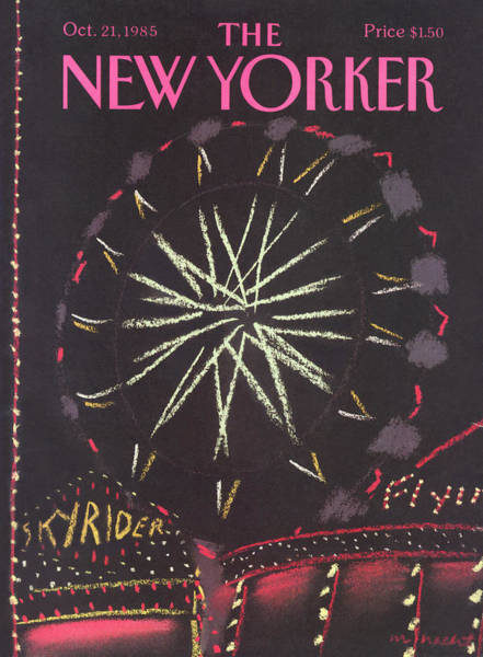 Entertainment Painting - New Yorker October 21st, 1985 by Merle Nacht