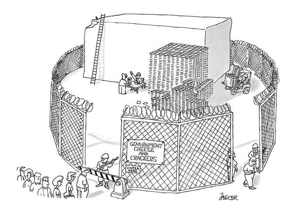 Government Drawing - New Yorker October 21st, 1996 by Jack Ziegler