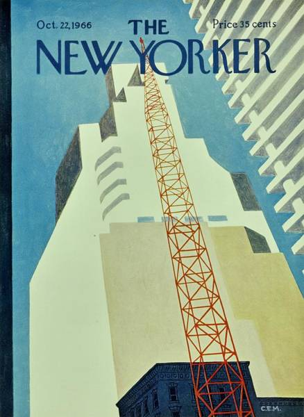 Office Painting - New Yorker October 22nd 1966 by Charles Martin