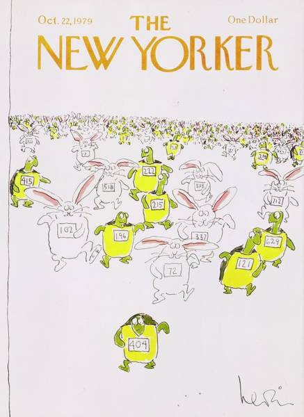 Wall Art - Painting - New Yorker October 22nd 1979 by Arnie Levin