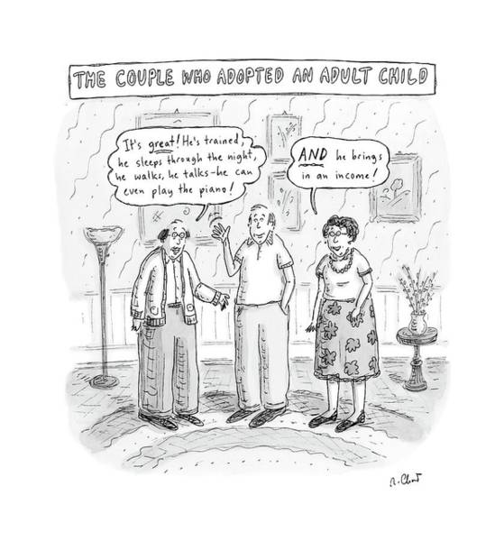 Adoption Wall Art - Drawing - New Yorker October 22nd, 2007 by Roz Chast