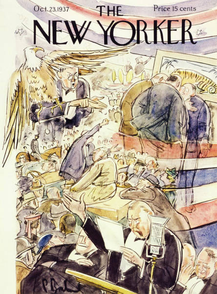 American Culture Painting - New Yorker October 23 1937 by Perry Barlow