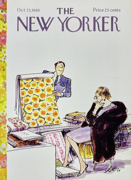 Wall Art - Painting - New Yorker October 23rd 1965 by Charles D Saxon