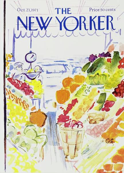 Vegetables Painting - New Yorker October 23rd 1971 by Arthur Getz