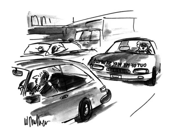 Traffic Drawing - New Yorker October 23rd, 1995 by Warren Miller