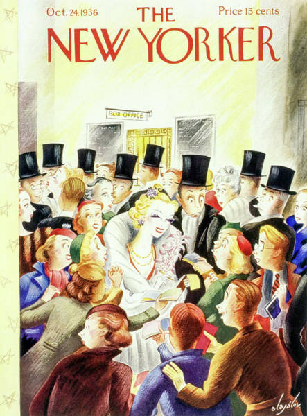 Magazine Cover Painting - New Yorker October 24 1936 by Constantin Alajalov