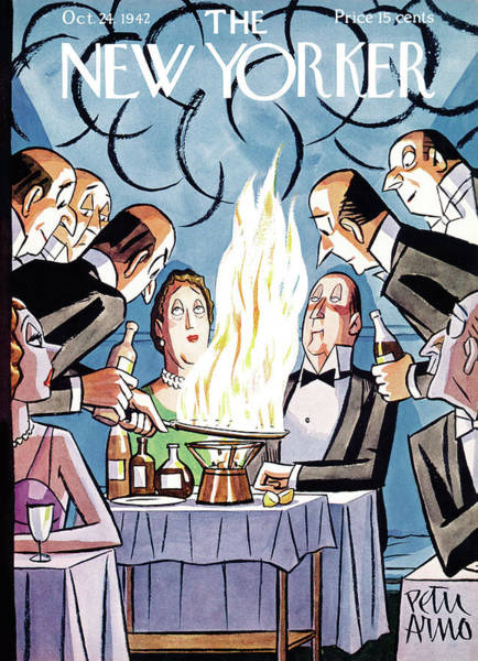 Restaurant Painting - New Yorker October 24th, 1942 by Peter Arno