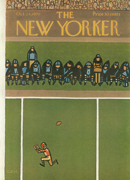 Sports Painting - New Yorker October 24th, 1970 by Charles E Martin