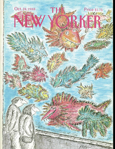 Fish Painting - New Yorker October 24th, 1988 by Edward Koren