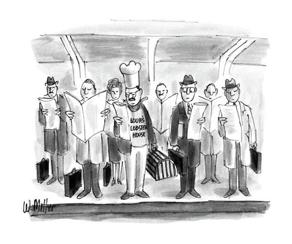Briefcase Drawing - New Yorker October 24th, 1988 by Warren Miller