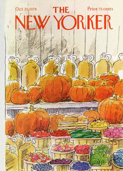 Market Painting - New Yorker October 25th, 1976 by Arthur Getz