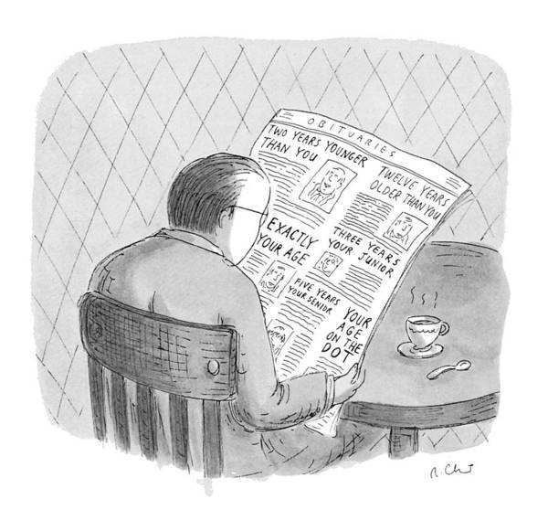 Read Drawing - New Yorker October 25th, 1993 by Roz Chast