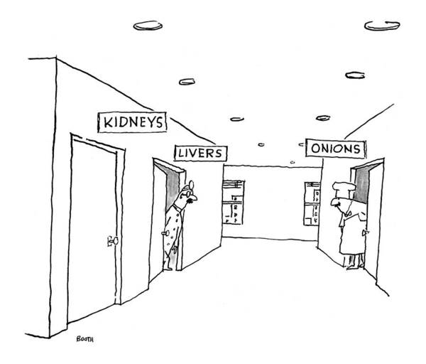 Chefs Drawing - New Yorker October 26th, 1998 by George Booth