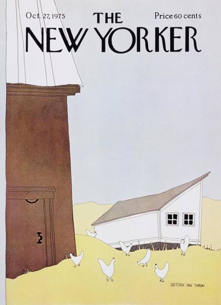 Countryside Painting - New Yorker October 27th 1975 by Gretchen Dow Simpson