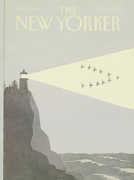 Wall Art - Painting - New Yorker October 27th, 1980 by Charles E Martin