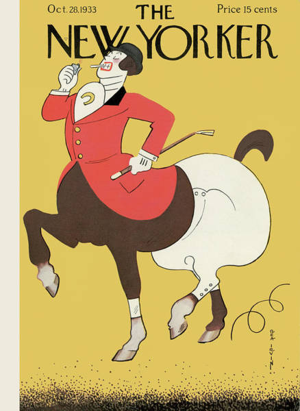 Riding Painting - New Yorker October 28th, 1933 by Rea Irvin