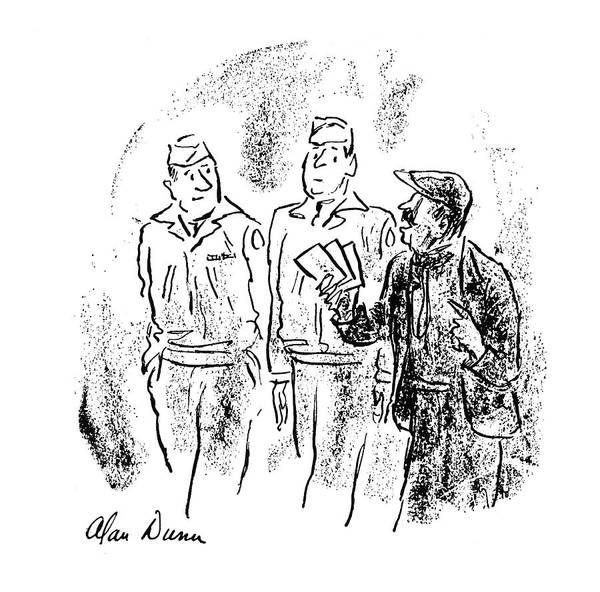 American Money Drawing - New Yorker October 28th, 1944 by Alan Dunn
