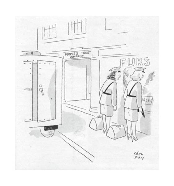Window Display Drawing - New Yorker October 28th, 1944 by Chon Day