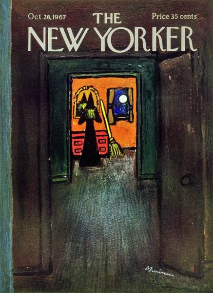 Night Painting - New Yorker October 28th 1967 by Aaron Birnbaum