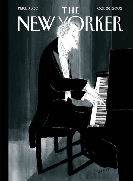 Piano Painting - New Yorker October 28th, 2002 by Jean-Jacques Sempe