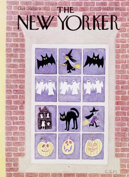 Ghosts Painting - New Yorker October 29th 1979 by Charles Martin