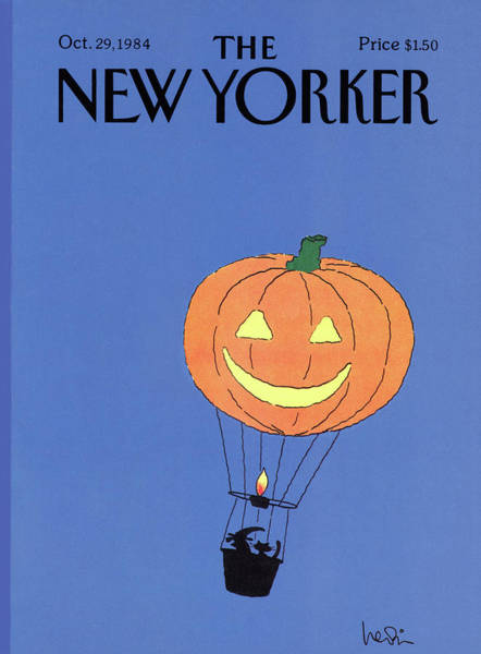 Silhouette Painting - New Yorker October 29th, 1984 by Arnie Levin