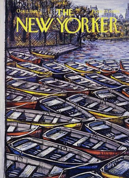 Donald Painting - New Yorker October 2nd 1965 by Donald Higgins