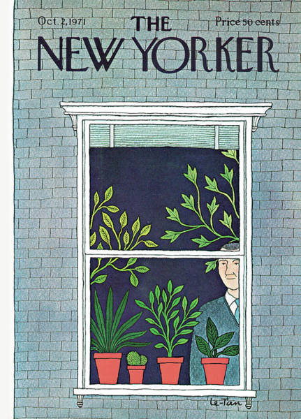 2 Painting - New Yorker October 2nd, 1971 by Pierre LeTan