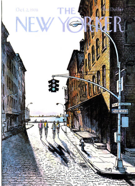 Bicycle Painting - New Yorker October 2nd, 1978 by Arthur Getz
