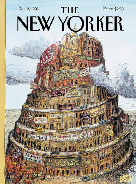 Book Painting - New Yorker October 2nd, 1995 by Edward Sorel