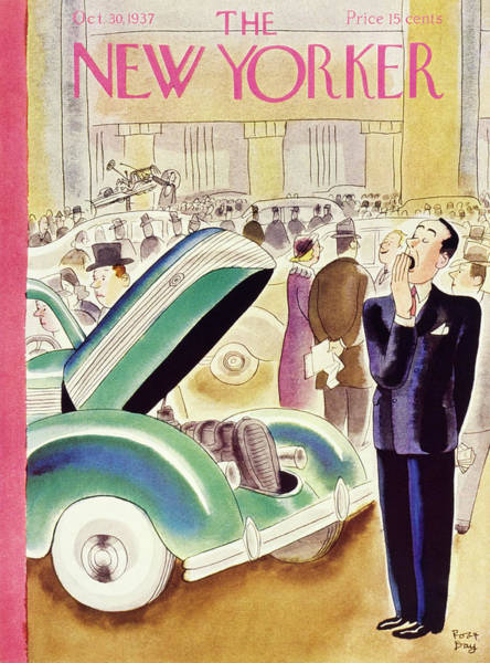 Illustration Painting - New Yorker October 30 1937 by Robert Day