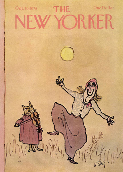 Fiddle Painting - New Yorker October 30th, 1978 by William Steig