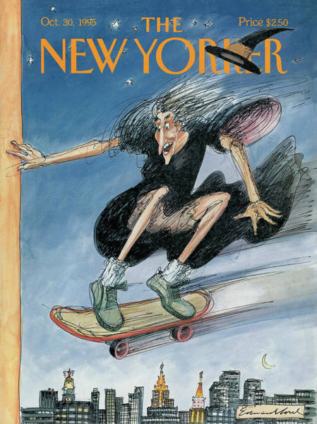 Halloween Painting - New Yorker October 30th, 1995 by Edward Sorel