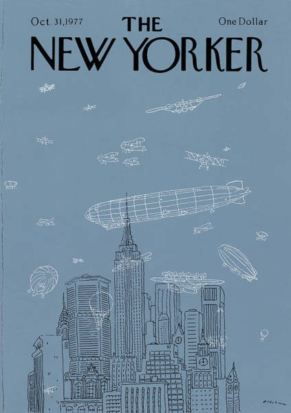 Skyscrapers Painting - New Yorker October 31st, 1977 by RO Blechman