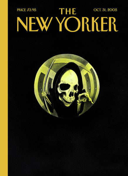 Death Painting - New Yorker October 31st, 2005 by Ian Falconer