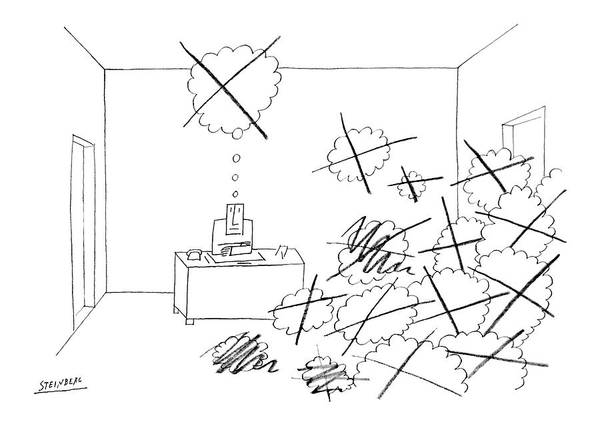 Writing Desk Drawing - New Yorker October 4th, 1969 by Saul Steinberg
