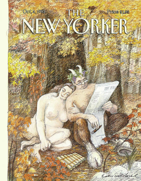 4 Seasons Painting - New Yorker October 4th, 1993 by Edward Sorel