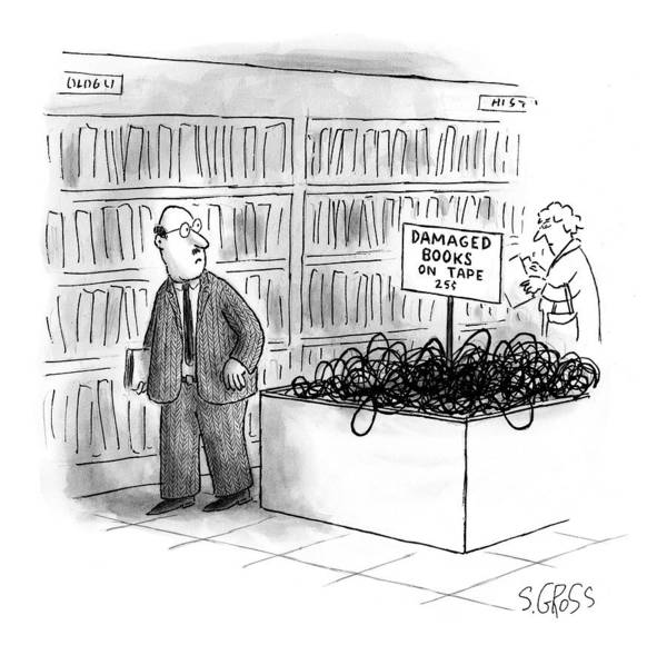 Bookstore Drawing - New Yorker October 4th, 1999 by Sam Gross