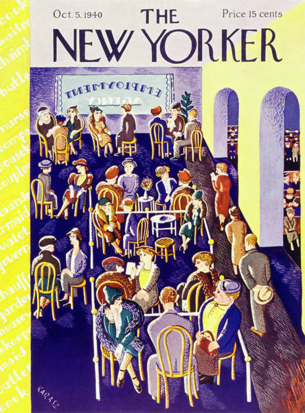 Illustration Painting - New Yorker October 5 1940 by Ilonka Karasz