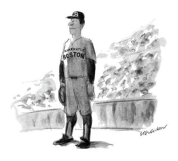 Baseball Player Wall Art - Drawing - New Yorker October 5th, 1981 by James Stevenson
