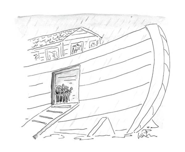 Noah Wall Art - Drawing - New Yorker October 5th, 1987 by Arnie Levin